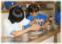 子供会パックではみんな陶芸をとても楽しんでいます!